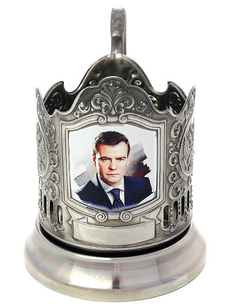 Никелированный подстаканник Медведев КольчугинскийЛатунный подстаканник с никелированным покрытием.<br>