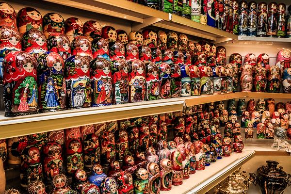 Nesting Russian Dolls matryoshka