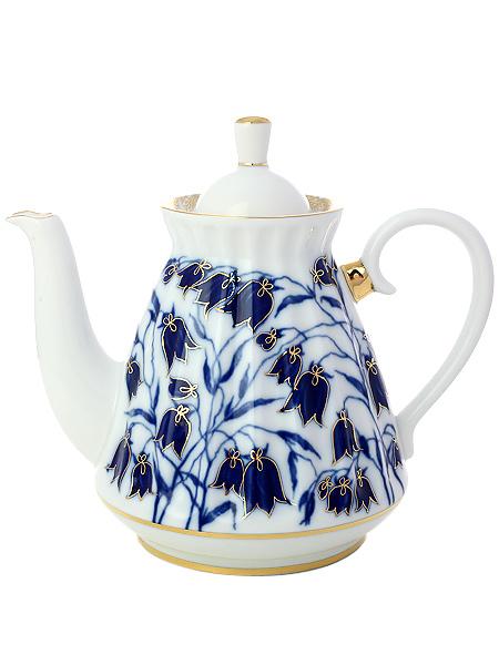 Чайник заварочный форма Лучистая, рисунок Колокольчики, Императорский фарфоровый заводФарфоровый чайник.&#13;<br>Объем - 750 мл.<br>