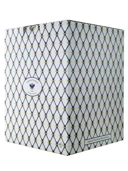 Картонная коробка для кофейных чашек Императорского фарфора
