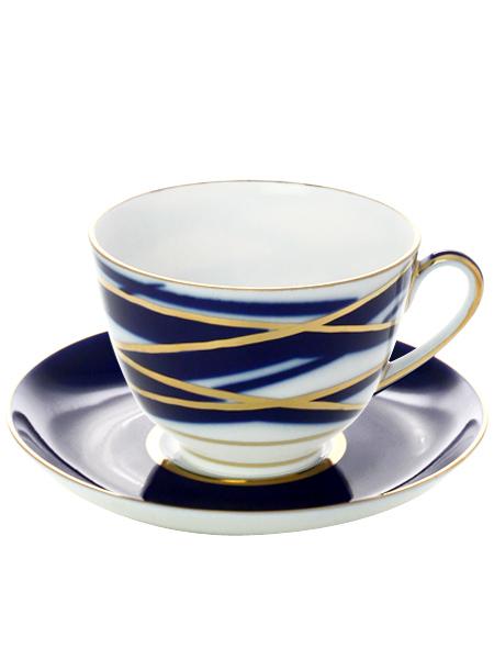 Чашка с блюдцем чайная форма Весенняя, рисунок Кокон, Императорский фарфоровый заводФарфоровая чайная пара.&#13;<br>Объем - 250 мл.<br>
