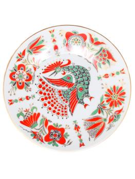 Тарелка декоративная форма Эллипс, рисунок Красная птица, Императорский фарфоровый заводПодарочная фарфоровая тарелка-панно с авторской росписью.<br>Диаметр - 195 мм.<br>