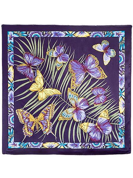 Шелковый Павлопосадский платок Фиджи, 89*89 см, арт. 1137-15Платок шелковый (атлас). &#13;<br>Размер 89х89 см.<br>