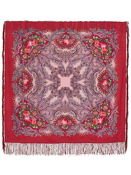 Шерстяной Павлопосадский платок Сон бабочки, 125*125 см, арт. 1463-4Платок шерстяной с набивным рисунком и шелковой бахромой.<br>Размер 125*125 см.<br>