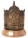 Никелированный подстаканник Герб РФ с медным покрытиемЛатунный подстаканник с медным покрытием.<br>