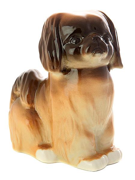 Скульптура Пекинес, Императорский фарфоровый заводФарфоровая сувенирная фигурка животного.<br>