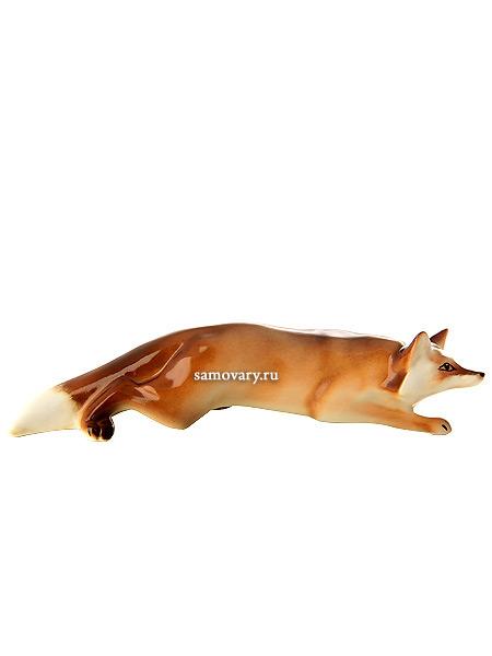 Скульптура Лисица, Императорский фарфоровый заводФарфоровая сувенирная фигурка животного.<br>