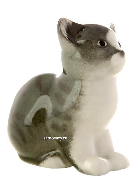 Статуэтка из фарфора Котенок Тишка, Императорский фарфоровый заводФарфоровая сувенирная фигурка животного.<br>