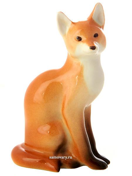 Статуэтка Лиса, Императорский фарфоровый заводФарфоровая сувенирная фигурка животного.<br>