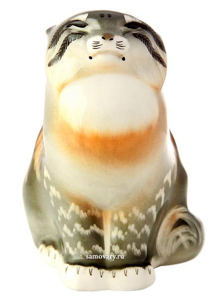 Скульптура Дикий кот, Императорский фарфоровый заводФарфоровая сувенирная фигурка животного.<br>