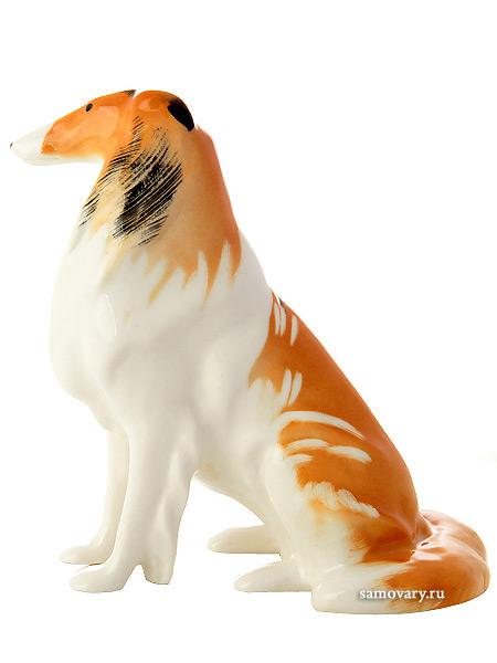 Скульптура Колли, Императорский фарфоровый заводФарфоровая сувенирная фигурка животного.<br>
