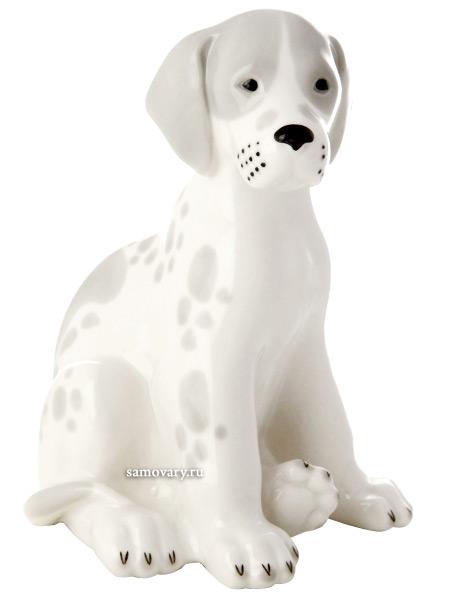 Скульптура Щенок, Императорский фарфоровый заводФарфоровая сувенирная фигурка животного.<br>