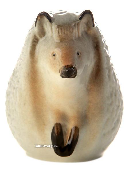 Скульптура Ежик, Императорский фарфоровый заводФарфоровая сувенирная фигурка животного.<br>
