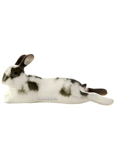 Скульптура Кролик лежебока, Императорский фарфоровый заводФарфоровая сувенирная фигурка животного.<br>