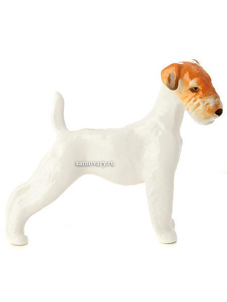 Скульптура Терьер жесткошерстный, Императорский фарфоровый заводФарфоровая сувенирная фигурка животного.<br>
