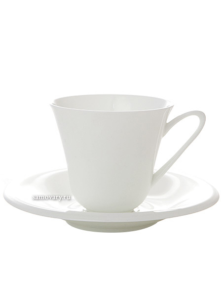 Сервиз чайный форма Сад, рисунок Белый 6/14, Императорский фарфоровый заводСервиз чайный из 14 предметов: 6 чайных пар, чайник заварочный и сахарница.<br>