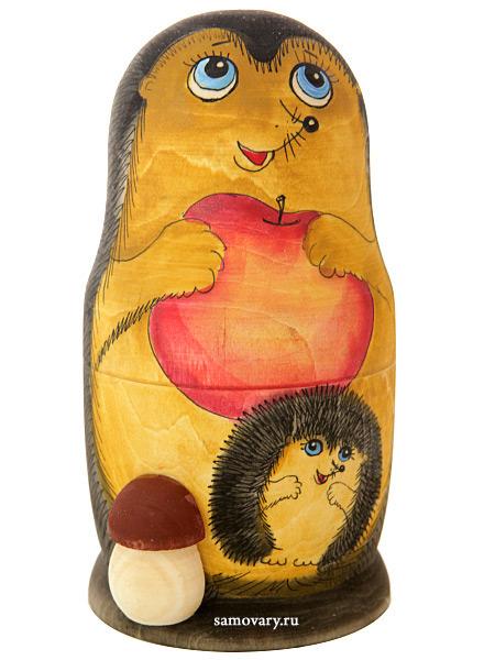 Набор матрешек Ежик, серия Животные, арт. 596Набор из 5 штук.<br>Высота - 16,5 см.<br>