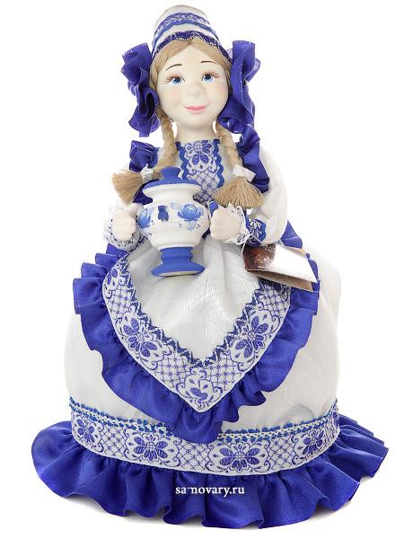 Кукла на чайник Глафира, арт. 48Кукла тряпичная декоративная на заварочный чайник.<br>