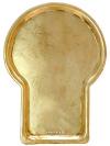 Поднос для самовара антикварный Гитара желтый, произведен в начале XX века въ ТулъАнтикварный поднос.<br>