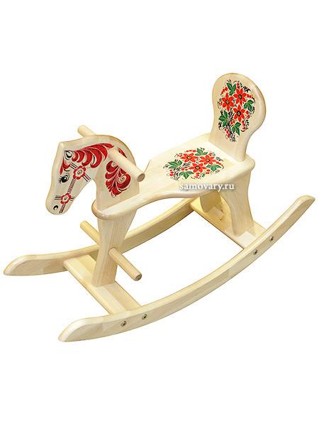 Детская мебель Хохлома - качалка-лошадка с художественной росписью Хохлома, арт. 772000000000