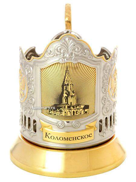 Подстаканник с позолотой Усадьбы Москвы. Коломенское КольчугиноЛатунный подстаканник с позолотой-посеребрением.<br>