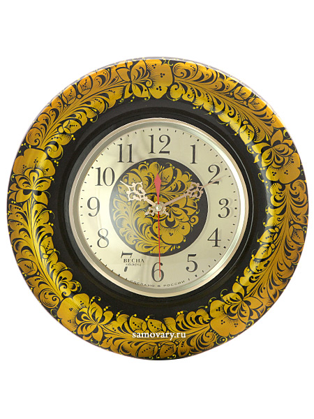 Часы с ручной художественной росписью Кудрина царскаяНастенные часы.<br>Диаметр - 31 см.<br>