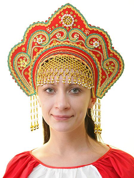 Кокошник Фантазия красныйСимвол традиционного русского костюма.<br>