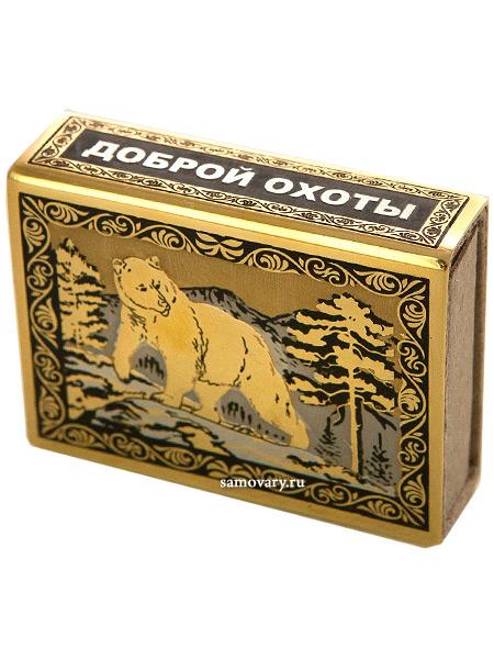 """Футляр для спичек с гравюрой """"Медведь"""" Златоуст Златоуст, Россия"""