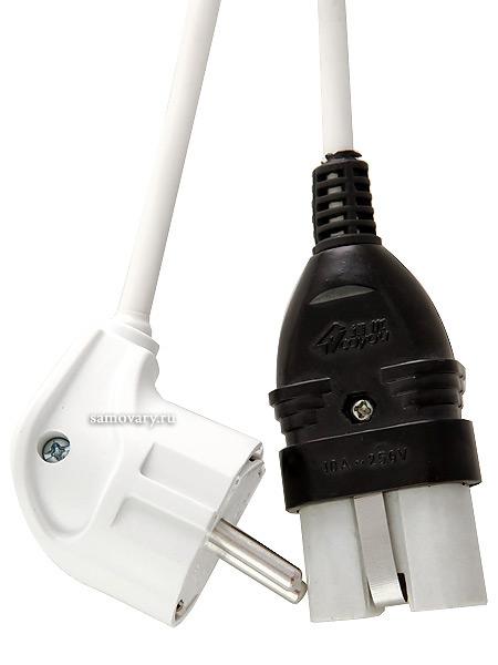 Шнур для самовараШнур для электрического или комбинированного самовара.<br>Длина - 1,2 метра.<br>