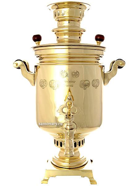 Комбинированный самовар антикварный 5 литров желтый цилиндр, произведен в начале XX века на Самоварной Фабрике Капырзина, арт. 320546Самовар комбинированный &#13;<br>желтый цилиндр антикварный. &#13;<br>Труба для отвода дыма в комплекте.<br>