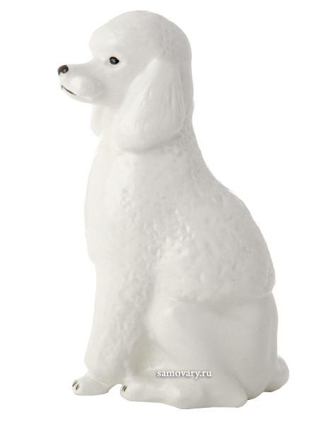 Скульптура Пудель, Императорский фарфоровый заводФарфоровая сувенирная фигурка животного.<br>