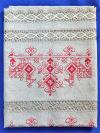 Льняное полотенце светло-серое с вышивкой (Вологодское кружево), арт. 8нхп-841, 200х35Полотенце с вышивкой Вологодским кружевом.&#13;<br>Размер - 200*35 см.<br>
