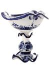Ваза для мороженого с художественной росписью ГжельКерамическая ваза с ручной росписью.<br>