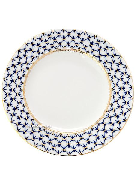 Фарфоровая тарелка мелкая 240 плоская, рисунок Кобальтовая сетка, Императорский фарфоровый заводТарелка мелкая фарфоровая.&#13;<br>Диаметр - 24 см.<br>