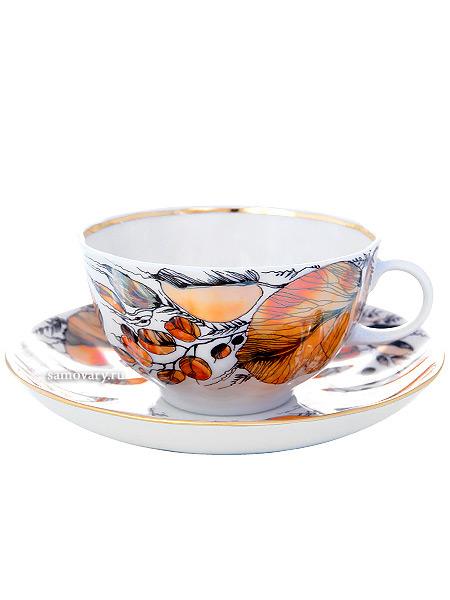 Сервиз чайный форма Тюльпан, рисунок Мой сад 6/20, Императорский фарфоровый заводСервиз чайный из 20 предметов: 6 чайных пар, чайник заварочный, сахарница и 6 десертных тарелок.<br>