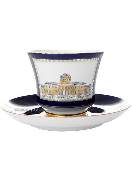 Чашка с блюдцем чайная форма Банкетная, рисунок Классика Петербурга 52% № 3, Императорский фарфоровый заводФарфоровая чайная пара.&#13;<br>Объем -  220 мл.<br>