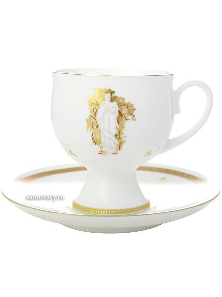 Кофейная чашка с блюдцем форма Классическая 2, рисунок Музы Летнего сада № 1, Императорский фарфоровый заводФарфоровая кофейная пара.&#13;<br>Объем чашки - 160 мл.<br>