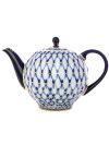 Чайник заварочный, форма Тюльпан, рисунок Кобальтовая сетка, Императорский фарфоровый заводФарфоровый чайник.&#13;<br>Объем - 600 мл.<br>