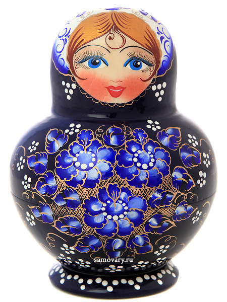 Набор русских матрешек Цветы, пузатая, арт. 1087Набор из 10 штук.<br>Высота - 12,5 см.<br>