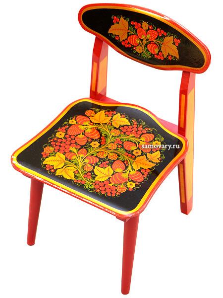 Детская мебель Хохлома - стул детский разборный с художественной росписью Хохлома