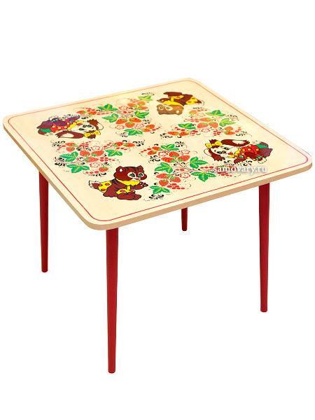 Детская мебель Хохлома - деревянный детский столик Осень с художественной росписью Хохлома, арт. 72320000000Деревянный детский стол Хохлома с красочной росписью.<br>Размер: 520х650х650 мм.<br>2-ая ростовая категория.<br>