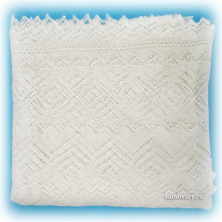 Оренбургский пуховый платок экрю, арт. А140-02
