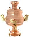 """Угольный самовар 7 литров медный \""""ваза\"""", арт. 220559 + труба в подарок"""