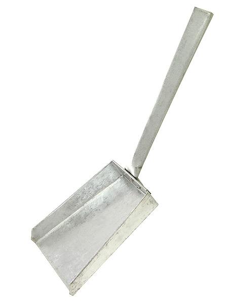 Совочек для углей оцинкованный,  арт.1732Совочек из оцинкованного железа.<br>