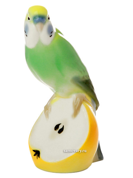 Скульптура Волнистый попугайчик Кеша, Императорский фарфоровый заводФарфоровая сувенирная фигурка.<br>