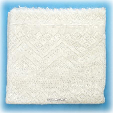 Оренбургский пуховый платок экрю, арт. П2-125-02Изящная паутинка, цвет - экрю.<br>Размер - 125х125 см.<br>Состав: пух - 69%, ПА - 31%.<br>