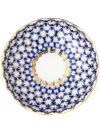 Фарфоровая розетка форма Тюльпан, рисунок Кобальтовая сетка, Императорский фарфоровый заводРозетка с традиционной росписью завода - Кобальтовая сетка.<br>