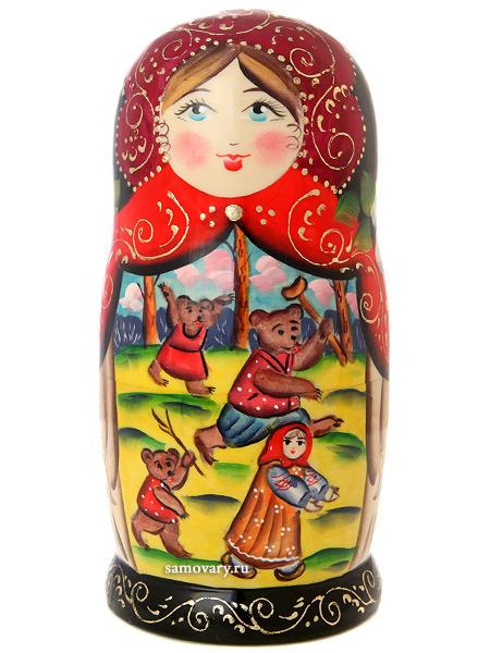 """Набор матрешек """"Маша и медведи"""", серия """"Сказки"""", арт. 7538 Тульские самовары"""