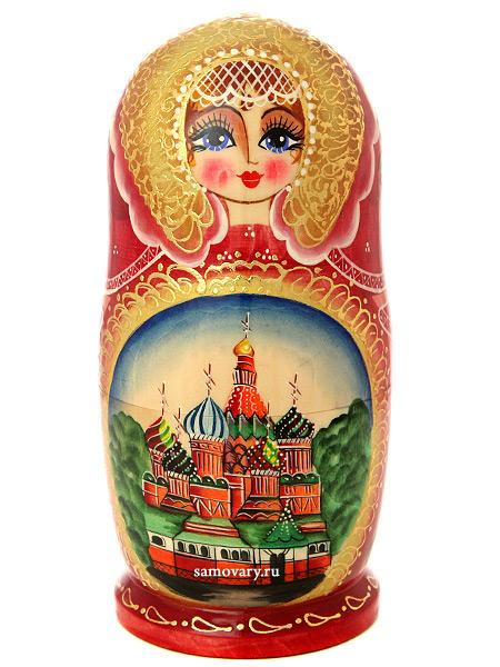 Набор матрешек Москва, арт. 510Набор из 5 штук. &#13;<br>Высота - 17,5 см.<br>