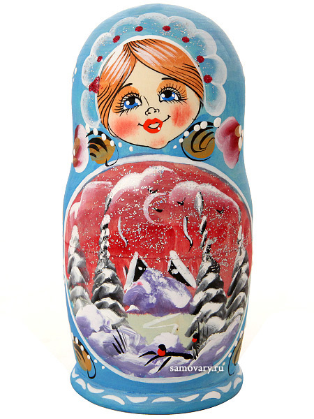 Набор матрешек Зима, арт. 58Набор из 5 штук.&#13;<br>Высота - 15 см.<br>